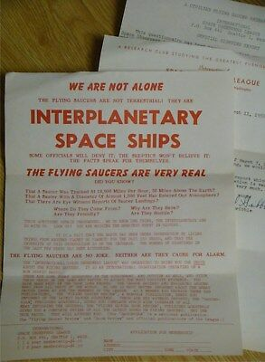 1955 UFO Report Center Papers Seattle flying saucer history vintage old RARE