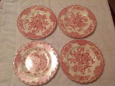 Set Of Four 7 34inch Plates English Ironstone Crown Ducal Agr