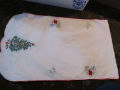 Vintage Spode Christmas Tree Cloth Table Runner