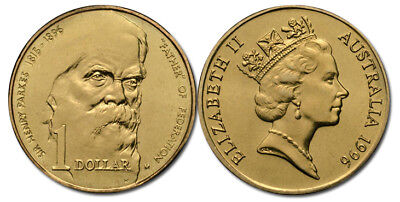 3 X Australian  $1 One Dollar Coin 1996 Sir Henry Parkes Father of Federation