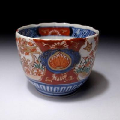 CB8: Antique Japanese Hand-painted OLD IMARI SOBA Cup, 19C