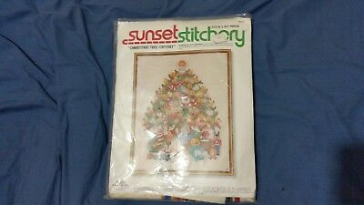 Christmas tree embroidery kit, needle work