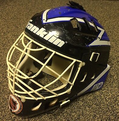 Franklin Sports Nhl Tampa Bay Lightning Goalie Face Mask Full-Sized Helmet Youth