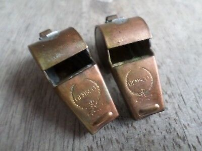 military police whistle lot Gemsco soldered connections brass