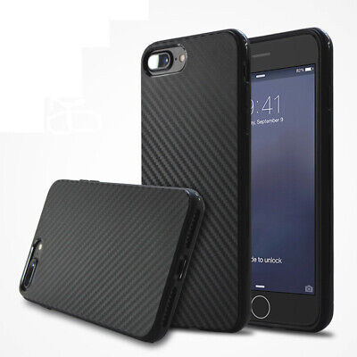 Luxury Carbon Fiber Soft TPU Silicone Thin Case Cover for iPhone 8 7 6s 6 5S SE