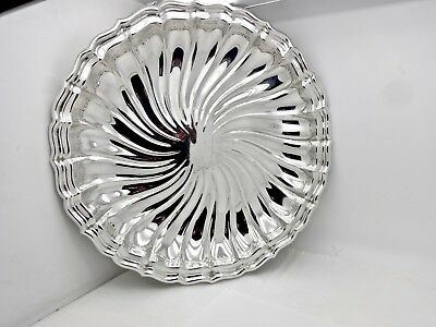 Large Gorham Swirled Flutes Mid-Century Sterling Silver  Center Bowl,tray,12""