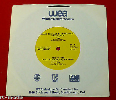 """THE SMITHS - William It Was Really Nothing - Rare Canadian Promo Only 4 Track 7"""""""