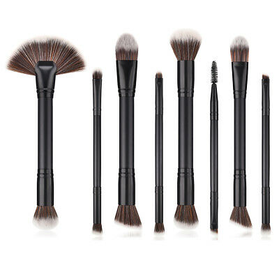 8pcs Makeup Brushes Double Head Powder Foundation Eyeshadow Eyeliner Brush Tools