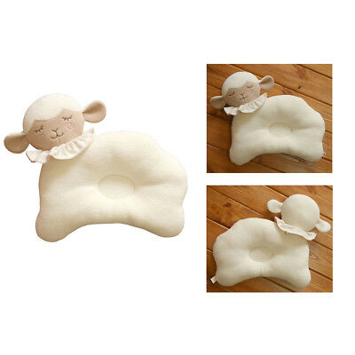 Cute Baby Infant Newborn Prevent Flat Head Neck Syndrome Support Square Pillow
