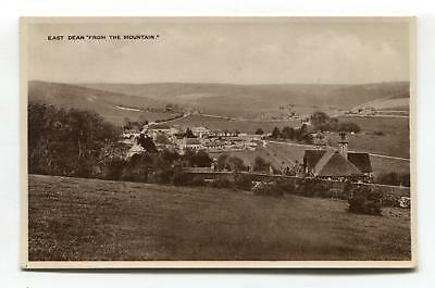 East Dean, Sussex - view from 'The Mountain' - old postcard