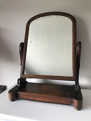 Large Antique Toilet Mirror With Lift Top Compartment