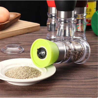 Stainless Steel Manual Salt & Pepper Mill Herb Spice Grinder Hand Shaker FG