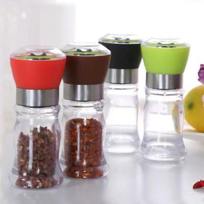 Stainless Steel Manual Salt Pepper Mill Herb Spice Grinder Hand Shaker Tool FG