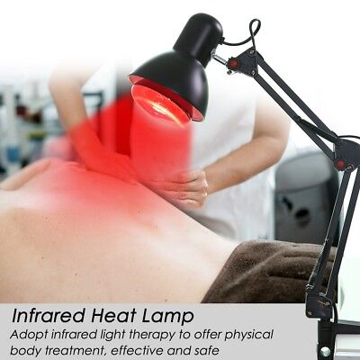 Desk/Floor Stand Infrared Heat Lamp Therapy Physiotherapy Light Pain Relief