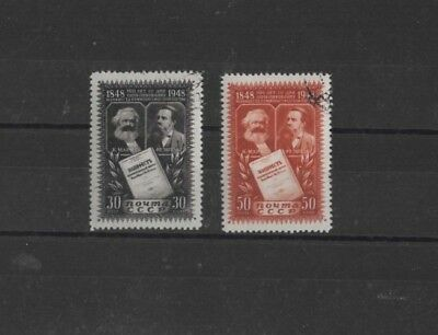 RUSSIA , 1948, SG1352 /3 TYPE 381 30k BLACK AND 50k BROWN, USED SET....