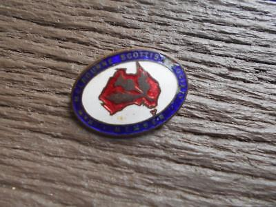 C 1920 's N & W Melbourne Scottish Society enamel badge Scotland # 134 Stokes