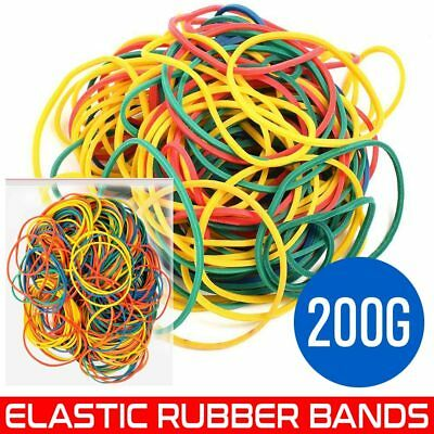 400 pcs Strong Elastic Rubber Bands for Home, School and Office 200g UK