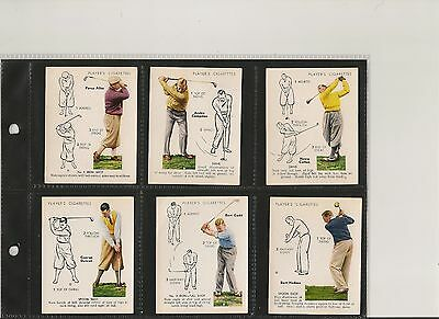 Player, GOLF (OVERSEAS ISSUE), Part Set LARGE 6/25, VG/EXCELLENT, 1939