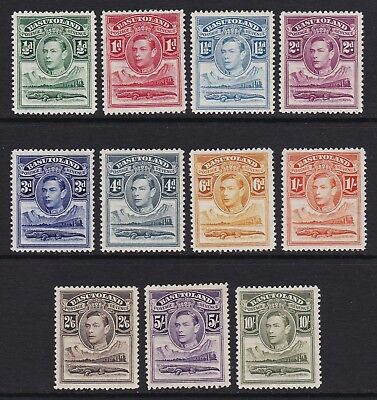 Basutoland 1938 set of 11 - lightly mounted / mounted mint £110