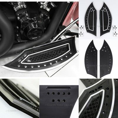 CNC Driver Floor Boards Footboard Foot Rest for Harley Touring Dyna Softail