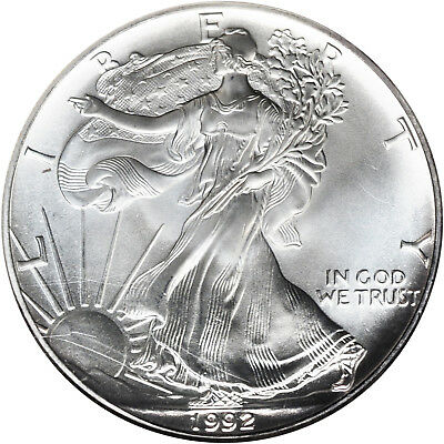 1992 American Silver Liberty Eagle $1 One Dollar Coin
