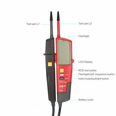 UNI-T UT18D Voltage Continuity Electrical RCD LCD Two Pole Tester H3