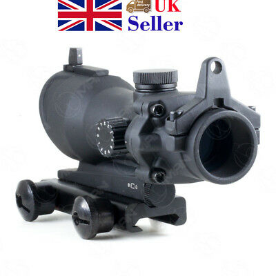 1x32 Tactical Green Red Dot Sight Scope Crosshair Hunting For Airsoft Hunting