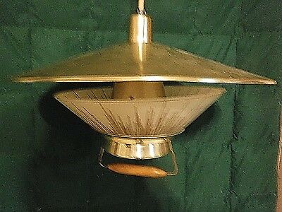 VINTAGE Mid Century Mod Retractable Pull Down Pendant Lamp-Was Over Kitchen Tabl