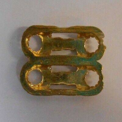 20 Gilt Patterned Fittings, S61. Ideal for Dressmaking, Leathercrafts etc