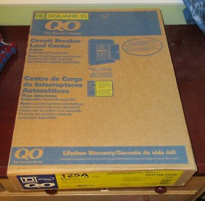 Square D QO312L125G 125A 3 Phase 12 Space Circuit Breaker Load Center New In Box