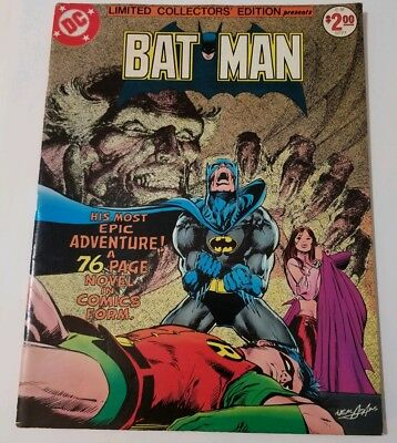 Vintage 1977 DC C-51 Batman Limited Collectors' Edition Comic Ra's Al Ghul