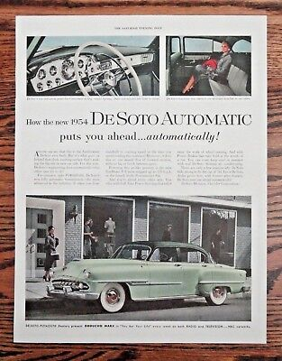 Large 1954 DeSoto Automatic Automobile Ad