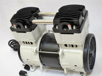 OIL-LESS VACUUM PUMP:Twin Piston 1HP 10CFM Push/Pull Compressor Dental/Workshop
