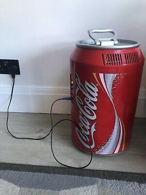Rare Red Authentic Coca Cola 10 Can Electric mini fridge H 44cm D 44cm