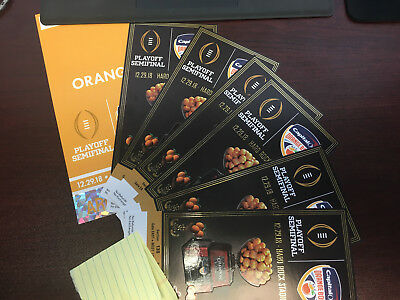6 Orange Bowl Tickets Alabama vs Oklahoma 12/29 - Section 138  With parking pass