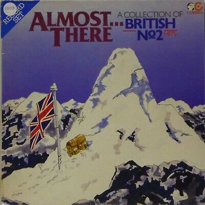 VARIOUS ARTISTS 'ALMOST THERE A COLLECTION OF BRITISH No2 HITS' MEGA RARE 2 x LP