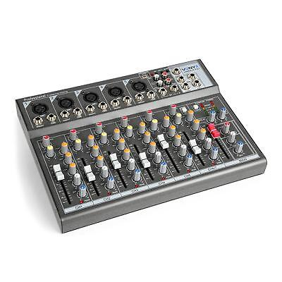 Vonyx DJ Mixer Table de mixage pro 7 canaux 5 entrées micro interface audio USB