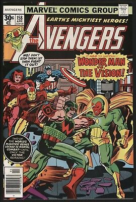 Avengers #158  Wonder Man Vs The Vision! Glossy Cents Copy White Pages!