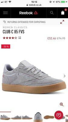 4044f46e308 REEBOK WOMENS CLUB C 85 FVS Ps Desert Low-Top Sneakers 6 UK - £52.99 ...