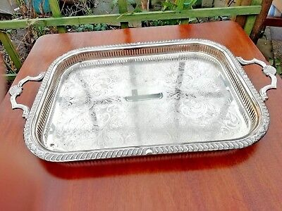 Silver plated gallery tray. Gorgeous
