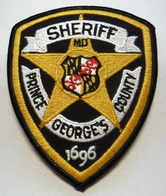 Old Prince Georges County Maryland Sheriff Patch Unused