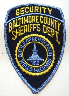 Old Baltimore County Maryland Sheriff Security Patch