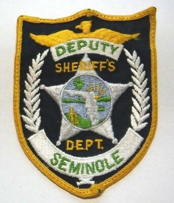 Old Seminole County Florida Sheriff Patch