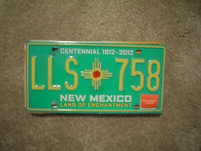 New Mexico Centennial     License Plate    Buy All States Here