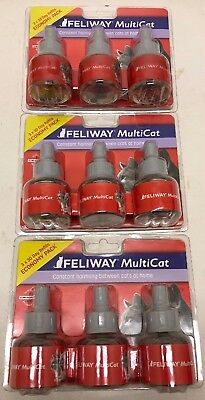 NEW! Ceva Feliway Multicat 30 Day Refills for Cats 9 Refills for Diffuser