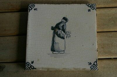 Old Delft Tile Farmer White Blue