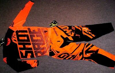 Shot Contact Combo Hose Jersey 36/XL NEU Cross Thor FLY Ufo KTM SX-F Neon Orange