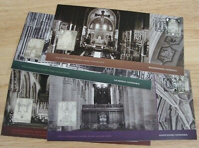 Lot of (4) - Cathedrals Silver Stamps - British Royal Mail First Day Covers