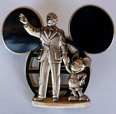 2007 Walt Disney & Mickey Mouse Partners Statue Globe Icon Cast Exclusive Pin
