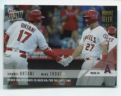 2018 Topps Now Moment of the Week Mike Trout / Shohei Ohtani MOW-24W